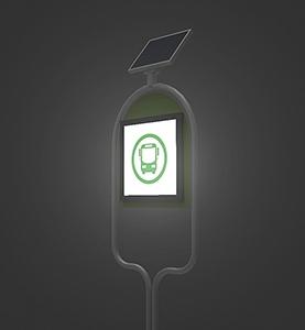 태양광 LED버스정류장 간판 조명